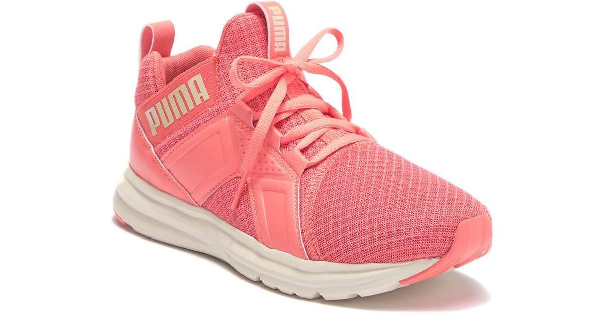 Enzo Premium Mesh Sneaker in Pink