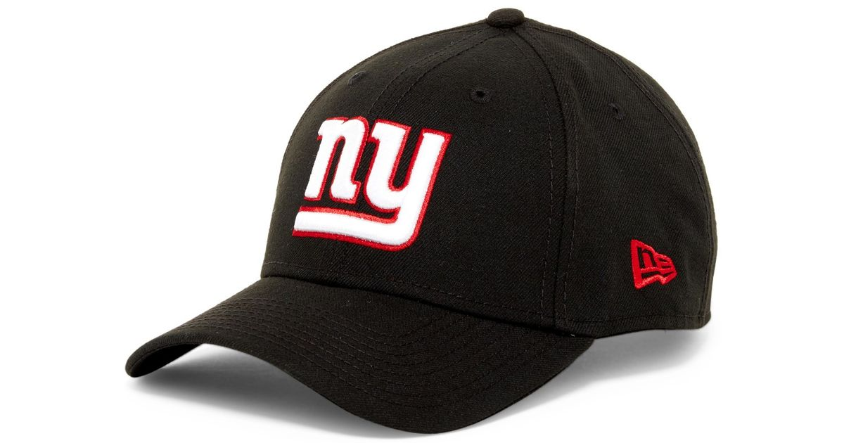 Ktz Nfl New York Giants Black Twill Football Cap In Black