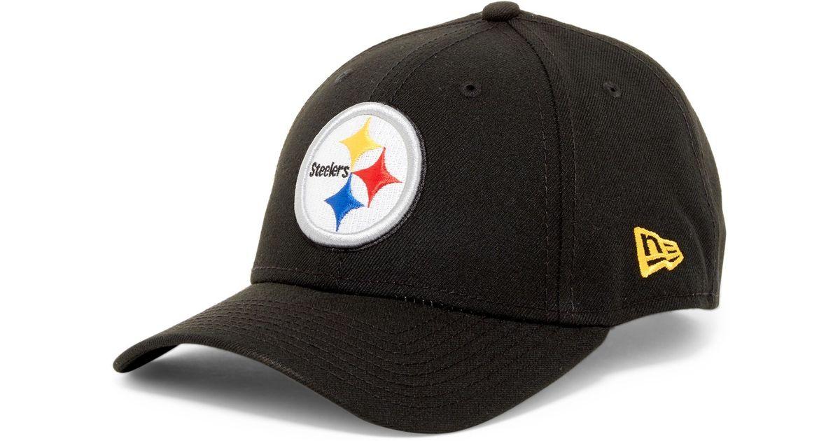 Ktz Nfl Pittsburgh Steelers Black Twill Football Cap In