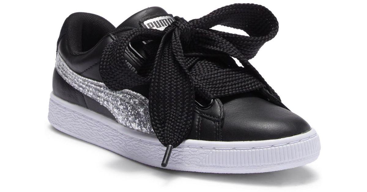puma basket heart glitter sneaker