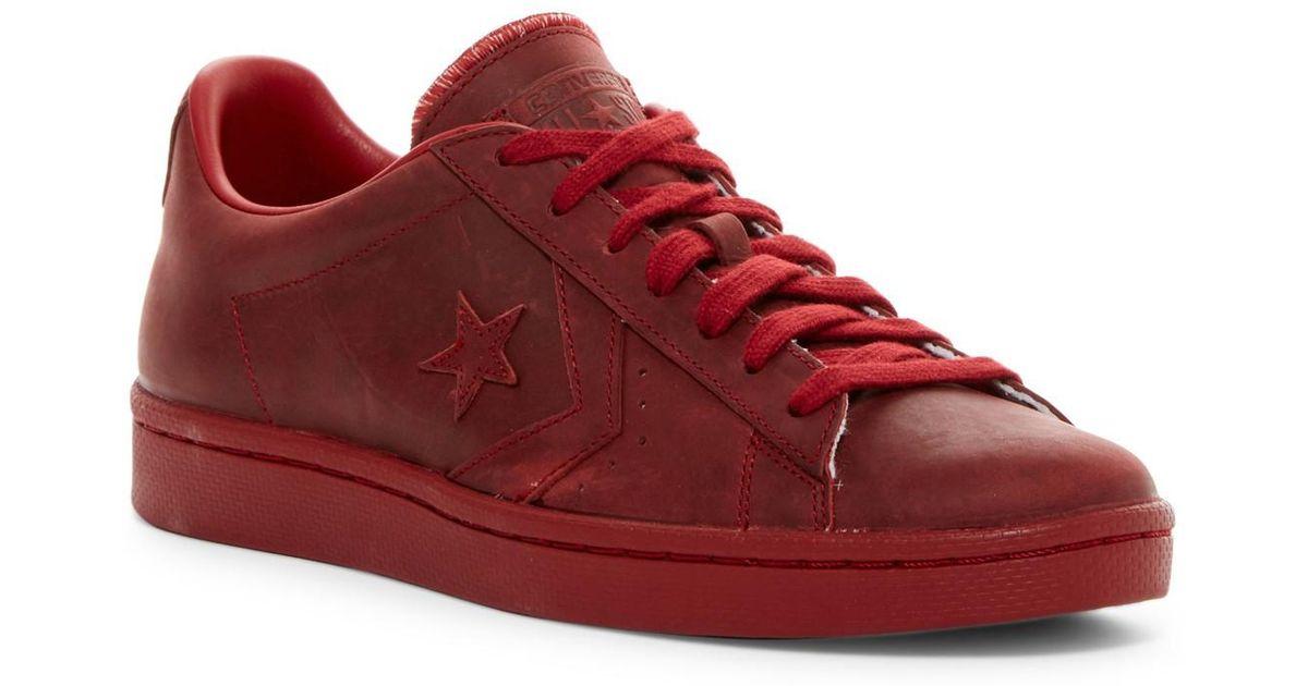 0c841aaaa1e9 Lyst - Converse Pl 76 Ox Sneaker (men) in Red for Men