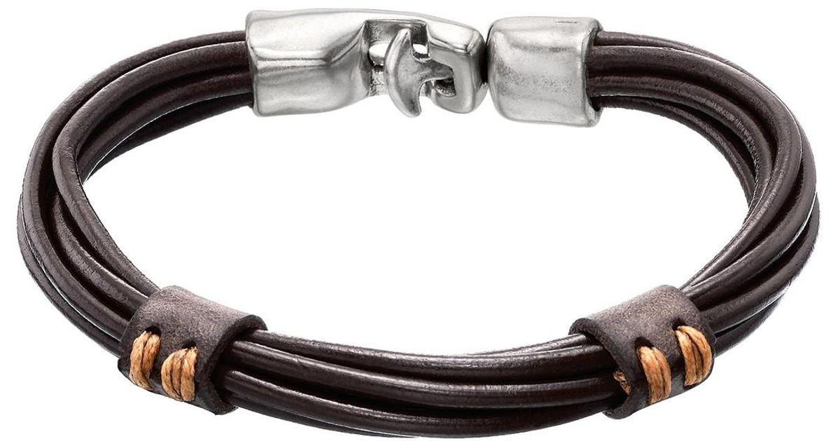 fff42e7bf8b98 Lyst - Uno De 50 Union   Strength Bracelet in Brown