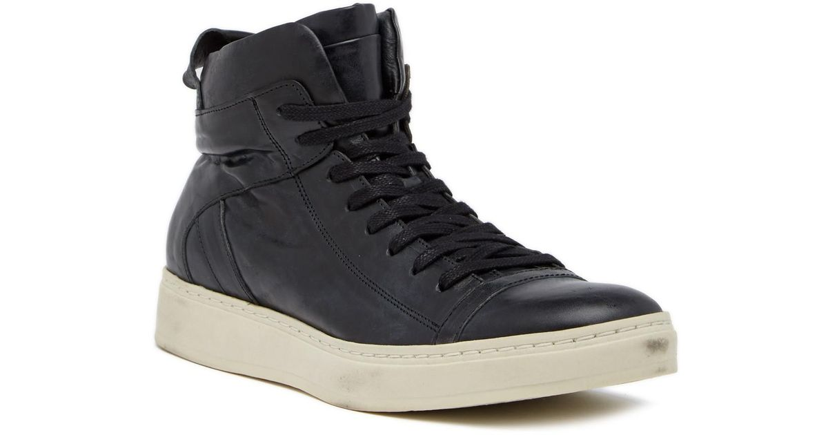 John VarvatosHIGH TOP LEATHER SNEAKERS