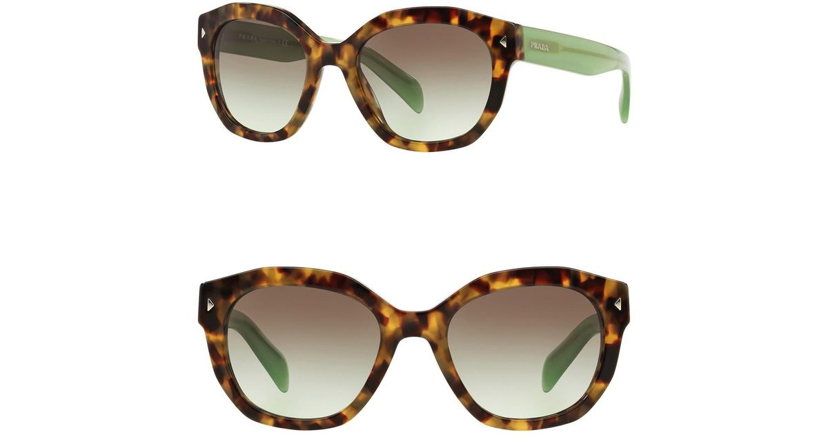 4a154b294df Lyst - Prada 53mm Square Sunglasses