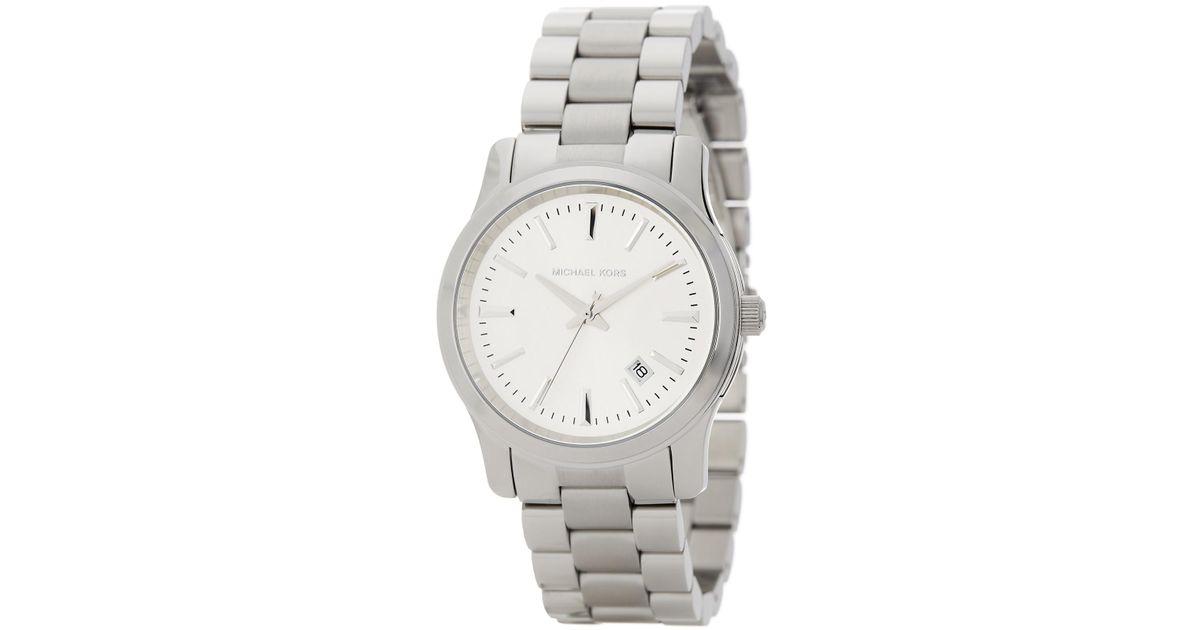 245bf0793222 Lyst - MICHAEL Michael Kors Women s Runway Bracelet Watch