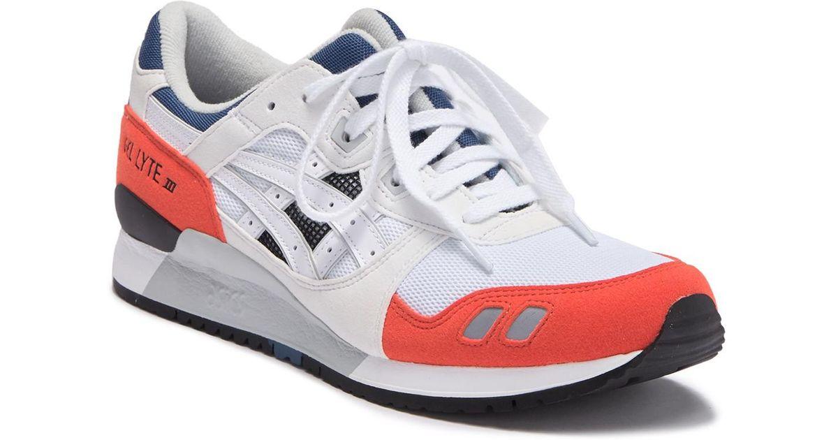 super popular 161db a1289 Asics White Gel-lyte Iii Running Sneaker for men