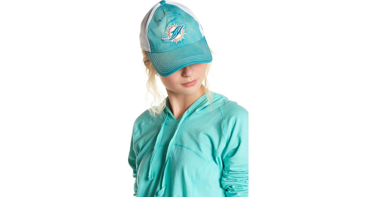 145381efd8317 ... hot lyst ktz miami dolphins baseball cap in blue 628b8 55e85
