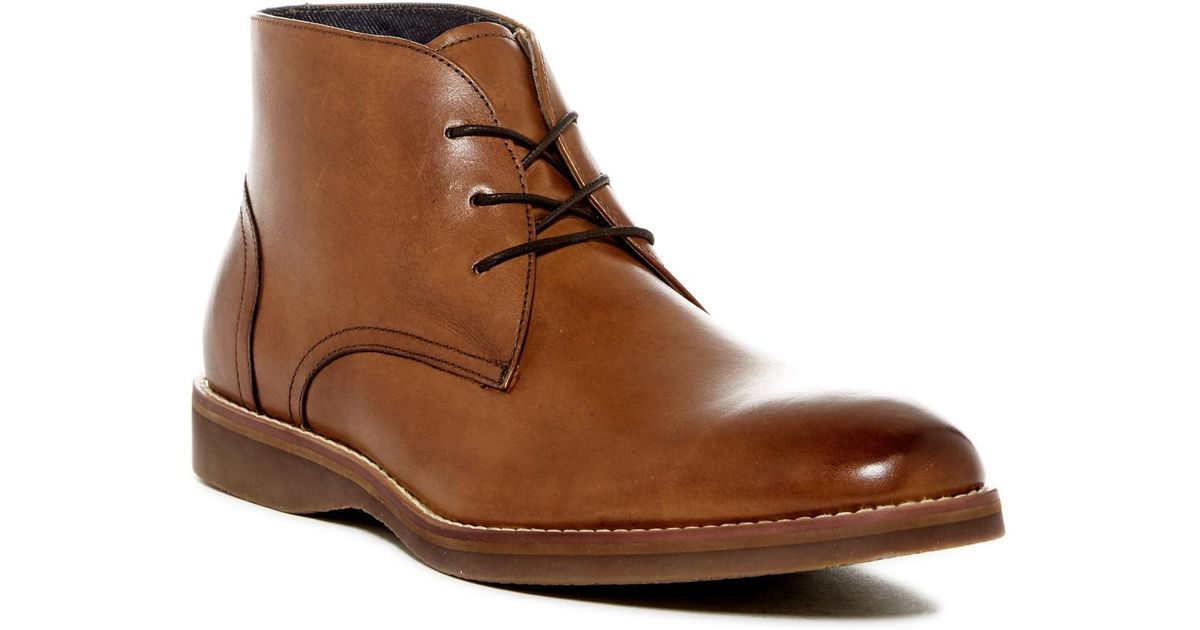 Lyst Aldo Waylle Leather Chukka Boot In Brown For Men