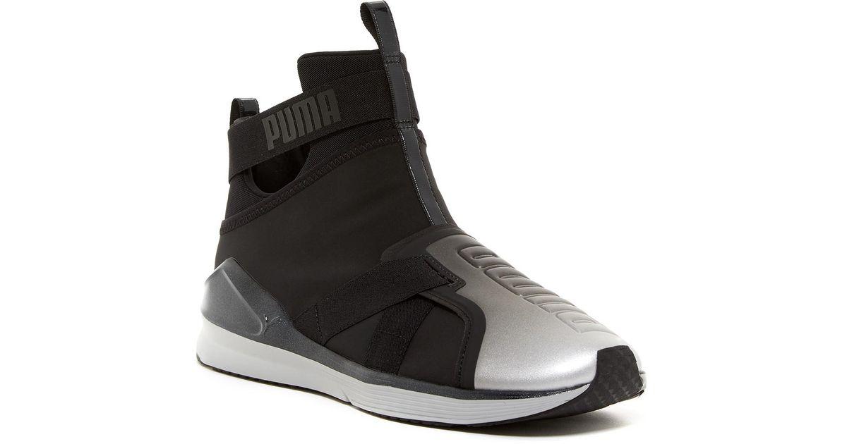 ed407bbb2242 Lyst - PUMA Fierce Strap Metallic Sneaker in Black for Men