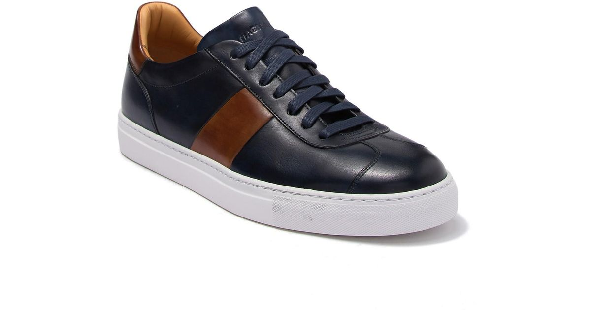Magnanni Elias Leather Sneaker in Navy