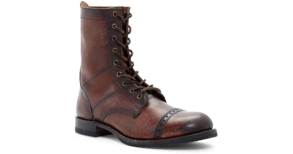 frye logan jump boot in brown lyst