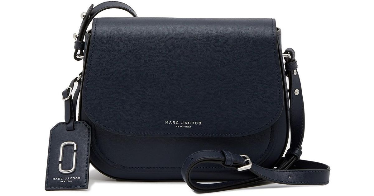 8ee058686f9 Lyst - Marc Jacobs Rider Leather Crossbody Bag in Blue