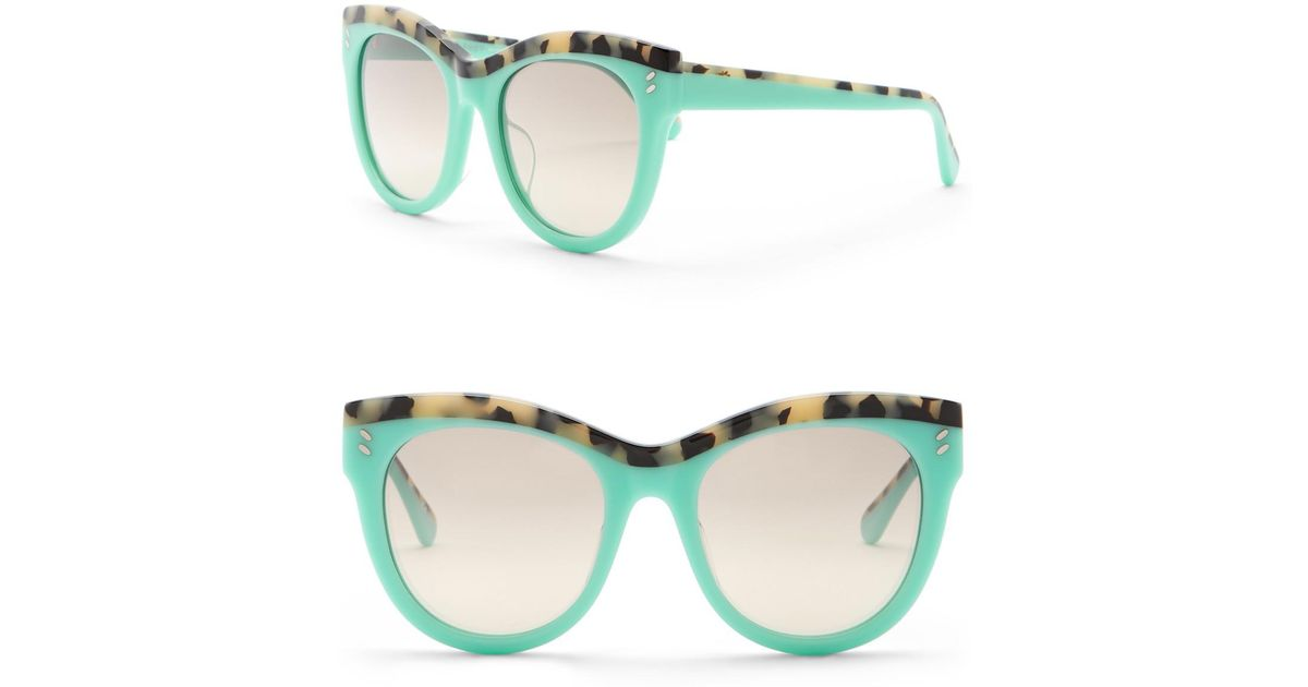 4f54f4d1bd8 Lyst - Stella McCartney 52mm Rounded Cat Eye Sunglasses in Blue