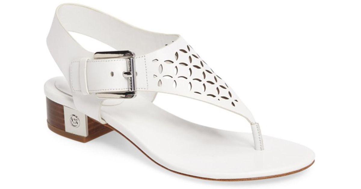 MICHAEL Michael Kors London Thong Block Heel Sandals 5JoA7a