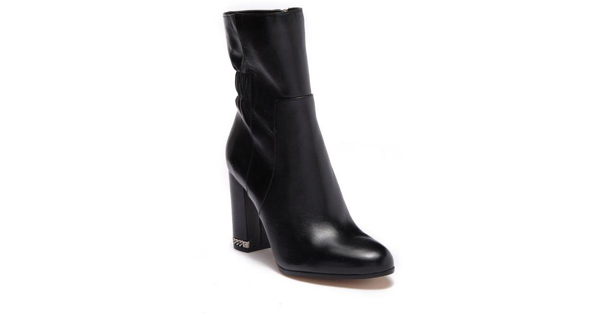 20e52e4635d1 Lyst - MICHAEL Michael Kors Dolores Leather Chain Boot in Black