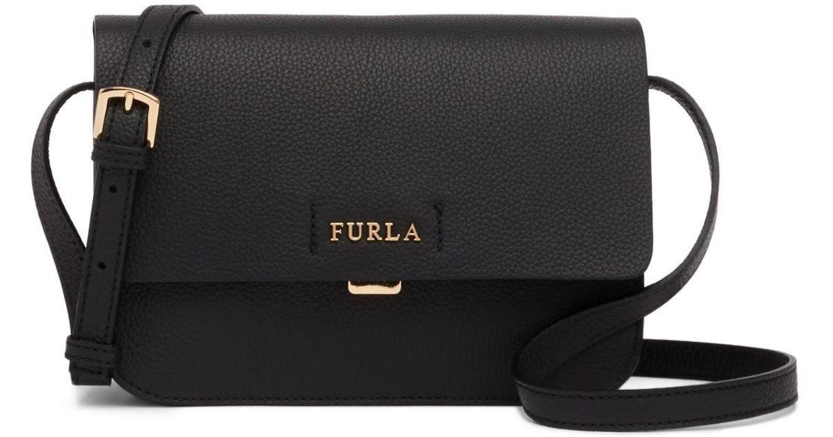 ea1d0308ab66 Lyst - Furla Sveva Medium Leather Crossbody Bag in Black