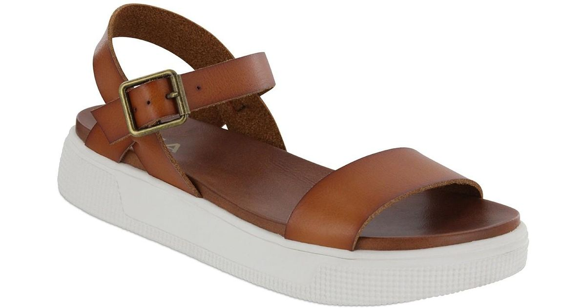 4e5c7100a77 Lyst - MIA Abby Open Toe Platform Sandal in Brown
