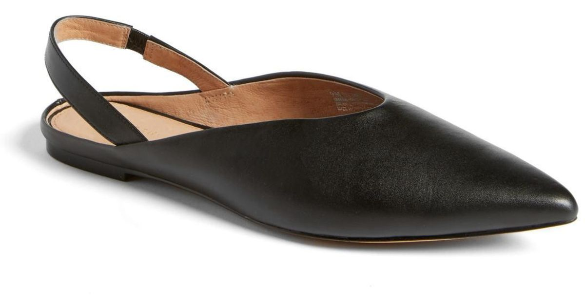 8969094a0fe Lyst - Halogen (r) Sadie Slingback Flat (women) in Black