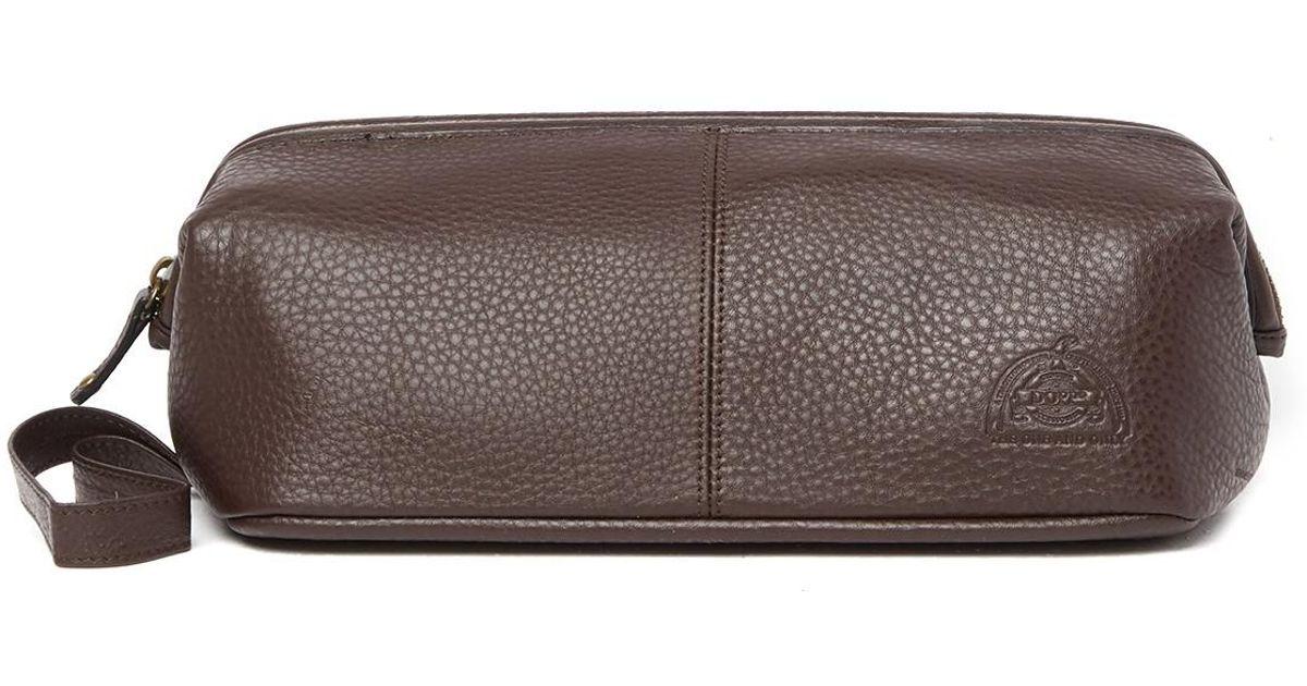 1b6b679c255c Buxton - Brown Soho Framed Leather Dopp Kit for Men - Lyst