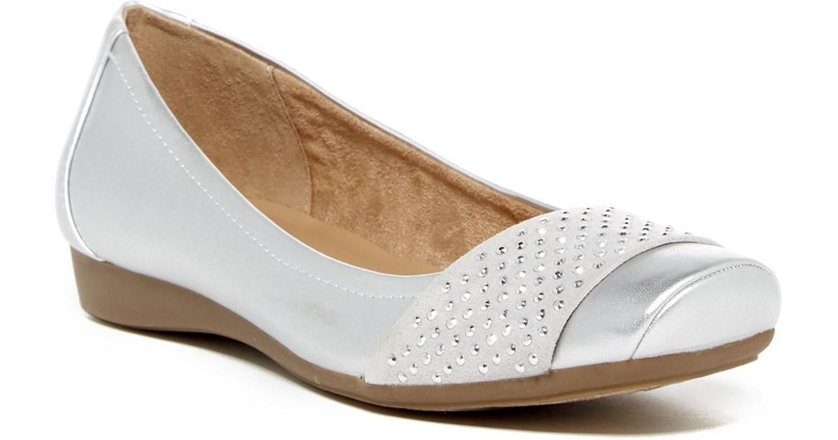 3e9e22cb699 Lyst - Naturalizer Vine Studded Flat - Multiple Widths Available in Metallic