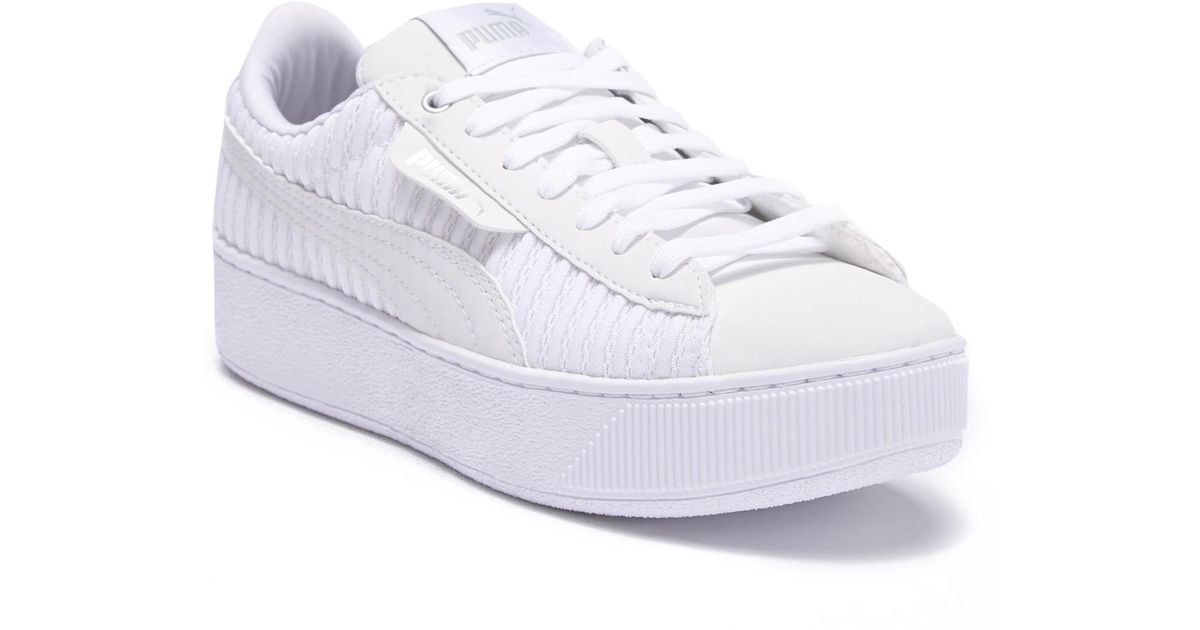 b62e5085bcc Lyst - PUMA Vikky Platform Ep Q2 Platform Sneaker in White