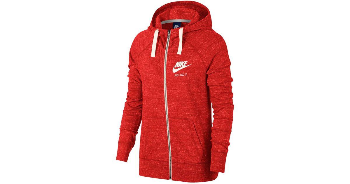 93d563b42c Lyst - Nike Vintage Drawstring Hoodie in Red