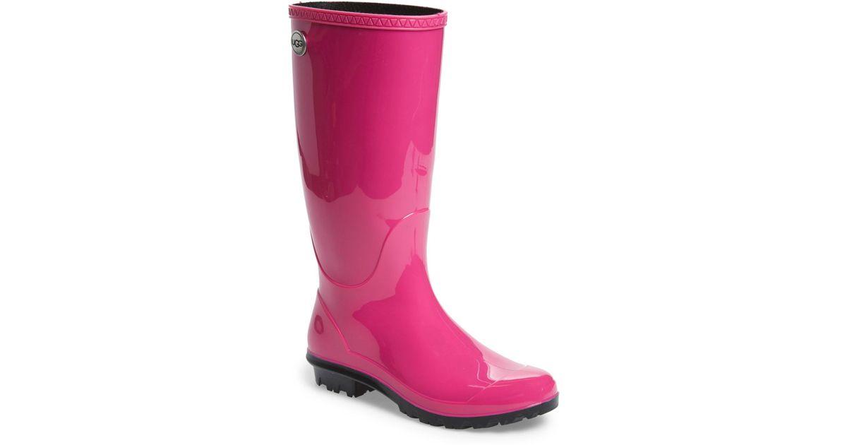Ugg Shaye Waterproof Rain Boot In Pink Lyst