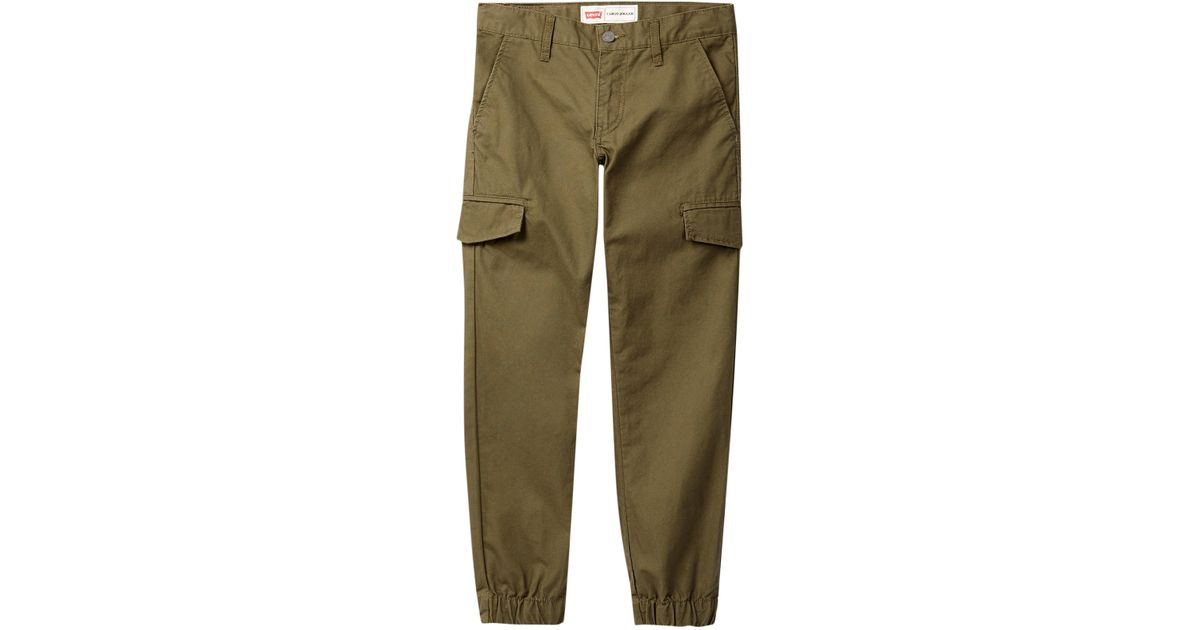 levis cargo jogger pant big boys in green for men deep