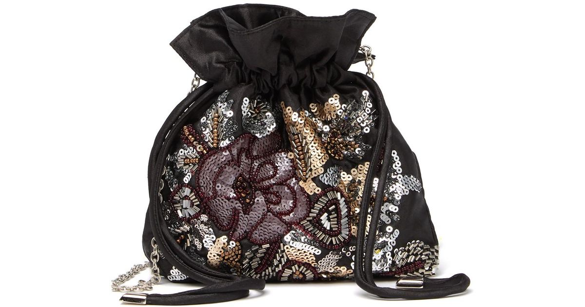 Jessica McClintock Victoria Floral Beaded Pouch