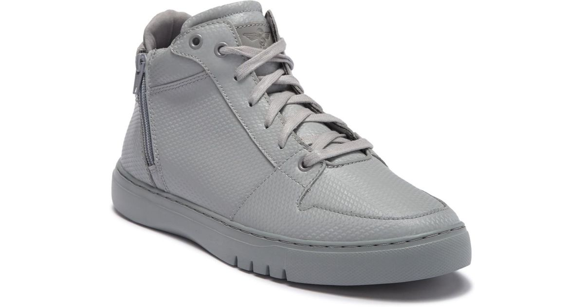 Creative Recreation Adonis Mid Mens Gray Leather Low Top Sneakers Shoes