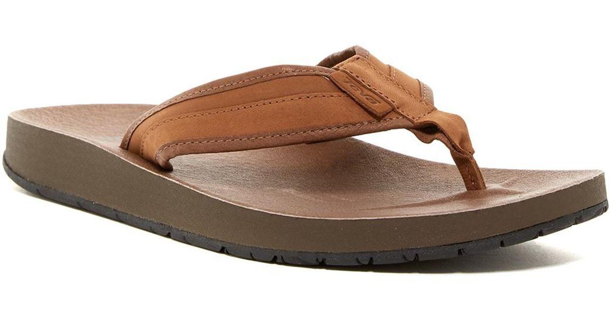 Teva Azure Leather Flip Flop (men) in