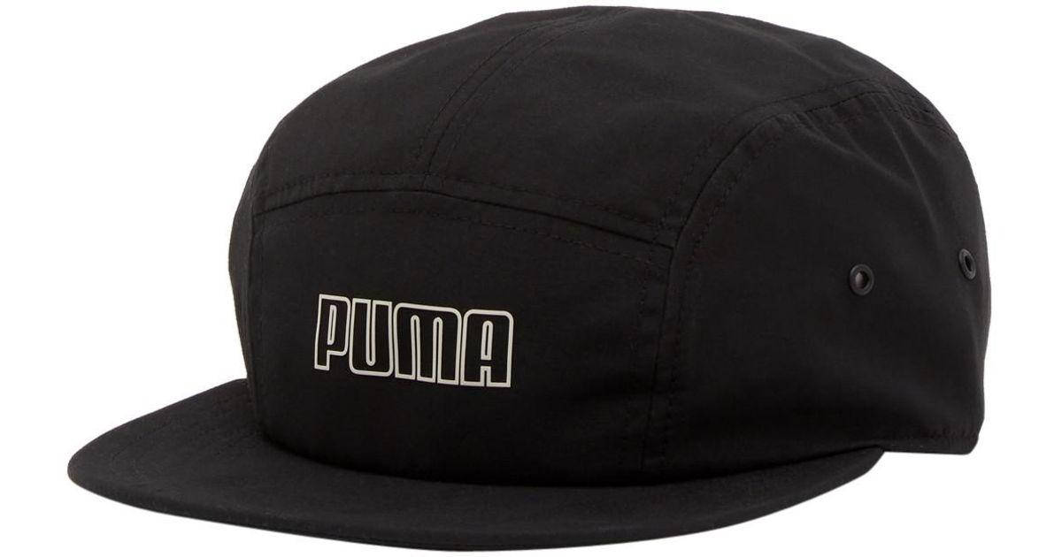 b67f753fe PUMA Mainline Archive 5-panel Cap in Black for Men - Lyst