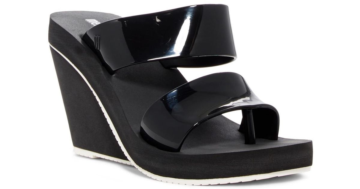 7ae4863268d Lyst - Melissa Summer High Wedge Sandal in Black