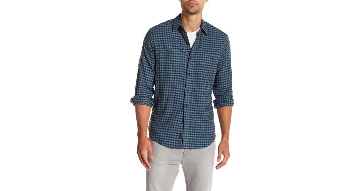 Free Shipping Visit Seasons Gingham Long Sleeve Trim Fit Shirt Cheap Reliable Hot Sale For Sale Q5NME