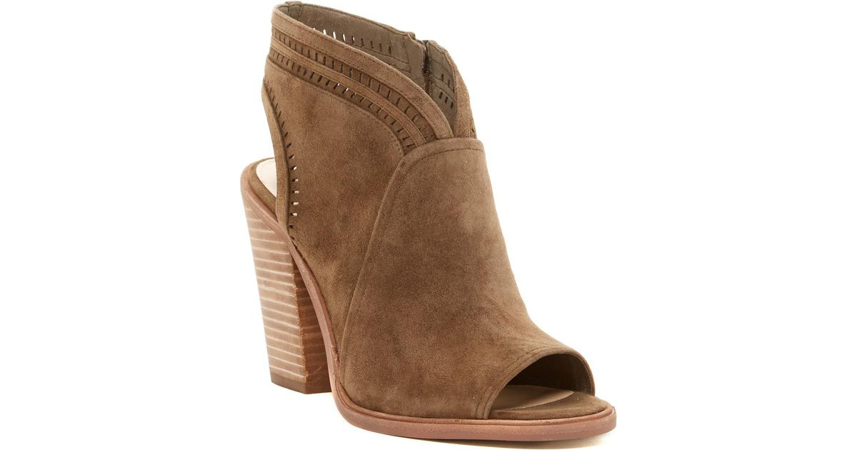 51d074a8a4d Lyst - Vince Camuto  koral  Perforated Open Toe Bootie (women) (nordstrom  Exclusive) in Brown