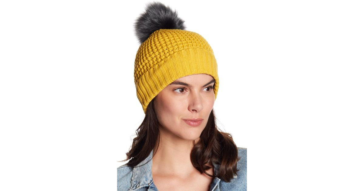 Lyst - NORLA HATS Homeward Faux Fur Pompom Beanie 90157826d8d
