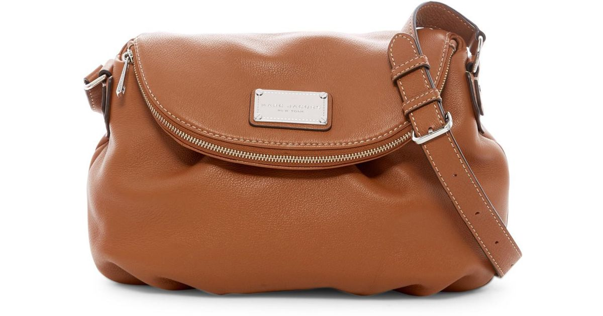 Marc By Jacobs Brown Classic Leather Messenger Bag