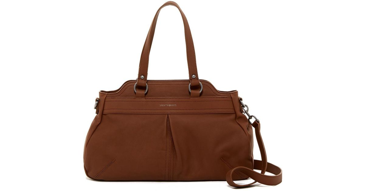 Lyst - Lucky Brand Corey Leather Satchel in Brown 1d86426acd