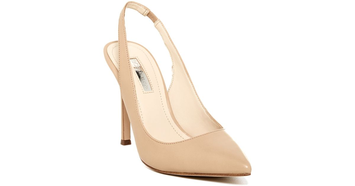 13a5c2a44d1d Lyst - BCBGeneration Tatyana Slingback Pump - Wide Width Available in  Natural