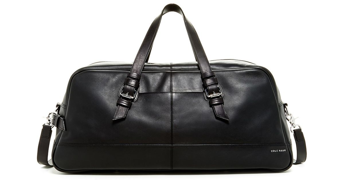 8a2ae3b549 Lyst - Cole Haan Leather Duffle Bag in Black for Men