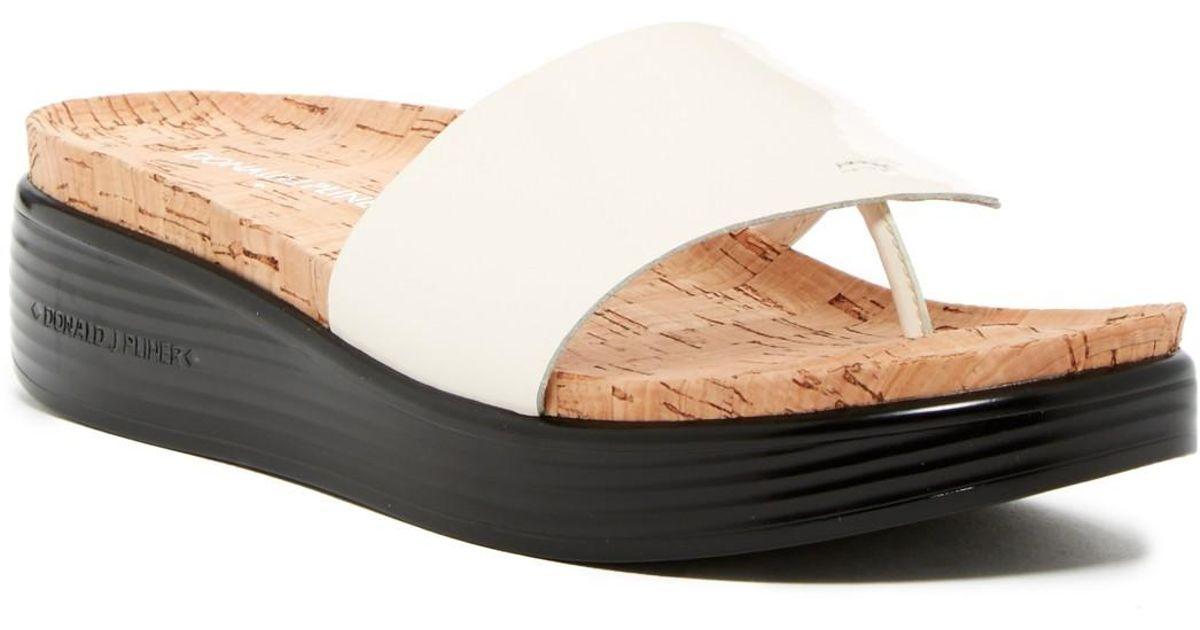 donald j pliner fifi patent low wedge sandal narrow