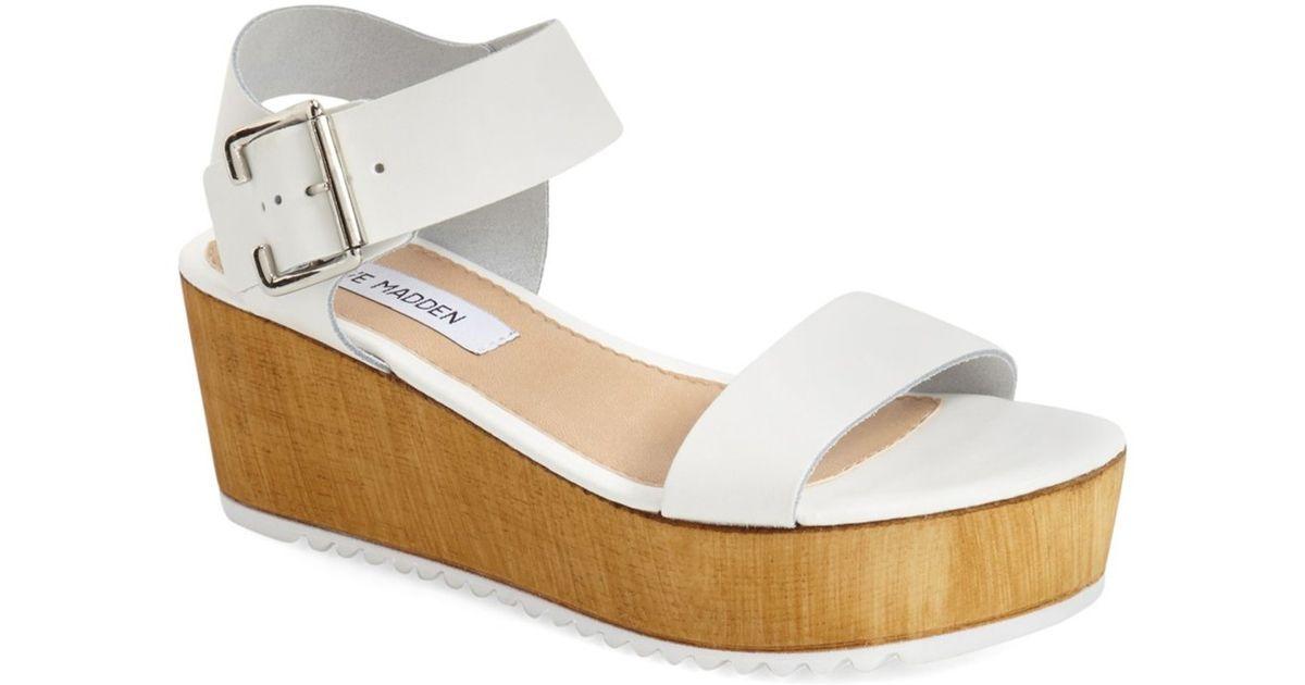 f4dbe76dc34c Lyst - Steve Madden  nylee  Platform Sandal (women) in White