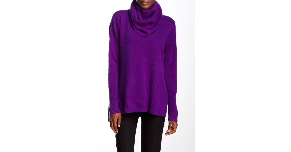 fce50f245dc4 Lyst - Diane von Furstenberg Ahiga Slim 2 Cashmere Sweater in Purple