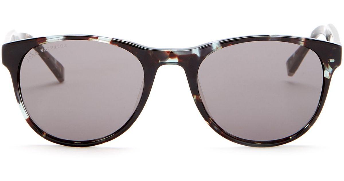 974bd2d15f5d2 Lyst - John Varvatos Men s Blue Tortoise Sunglasses for Men