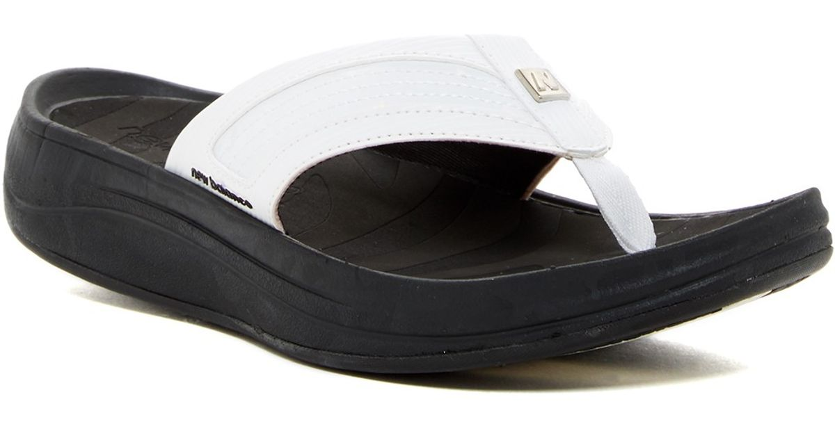 7959f7256d6f Lyst - New Balance Revive Thong Sandal in Black
