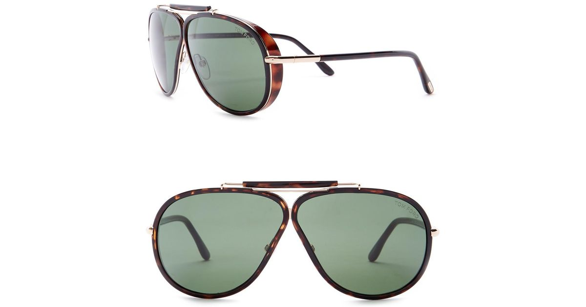 a503b601b5e2 Lyst - Tom Ford 65mm Aviator Sunglasses