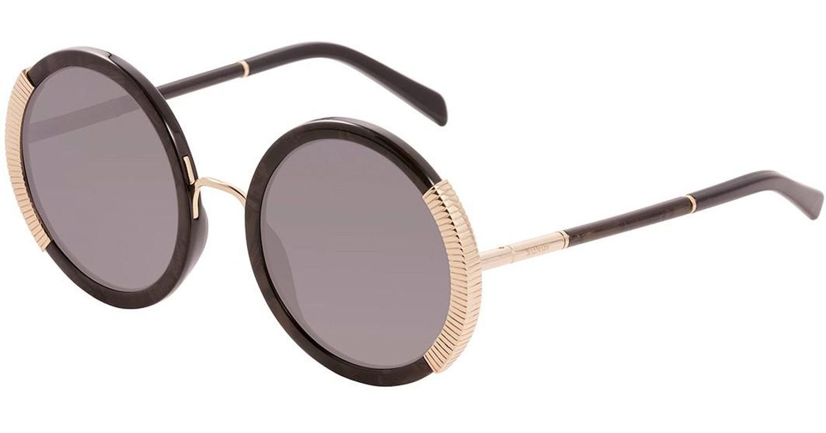 5471a51d88 Lyst - Balmain Women s Round 54mm Acetate Frame Sunglasses in Brown