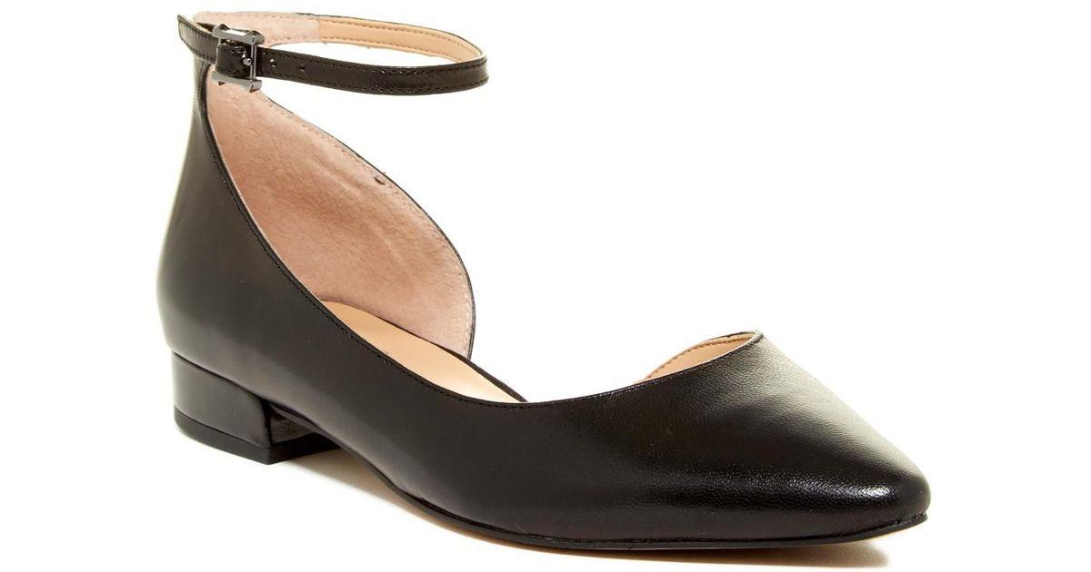 9f4801afbb1 Franco Sarto Black Slide Leather D'orsay Flat