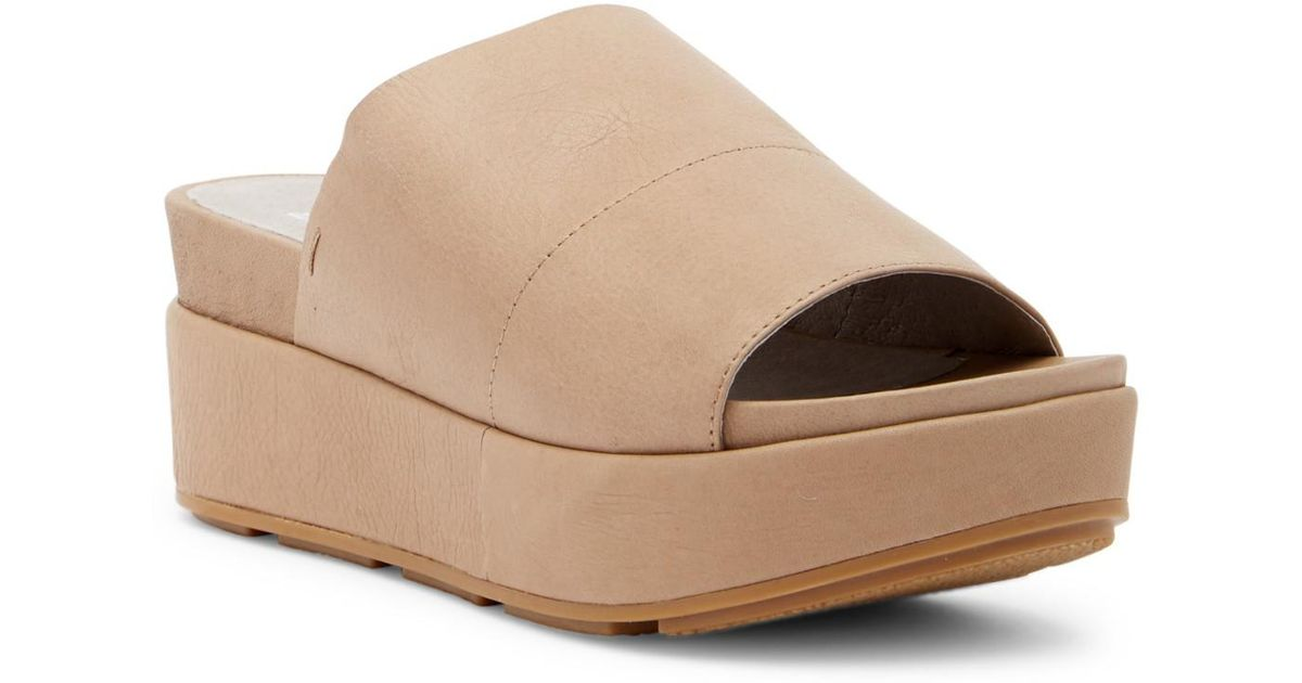 2f5e4dd08b20 Lyst - Eileen Fisher Briggs Washed Leather Platform Sandal in Brown