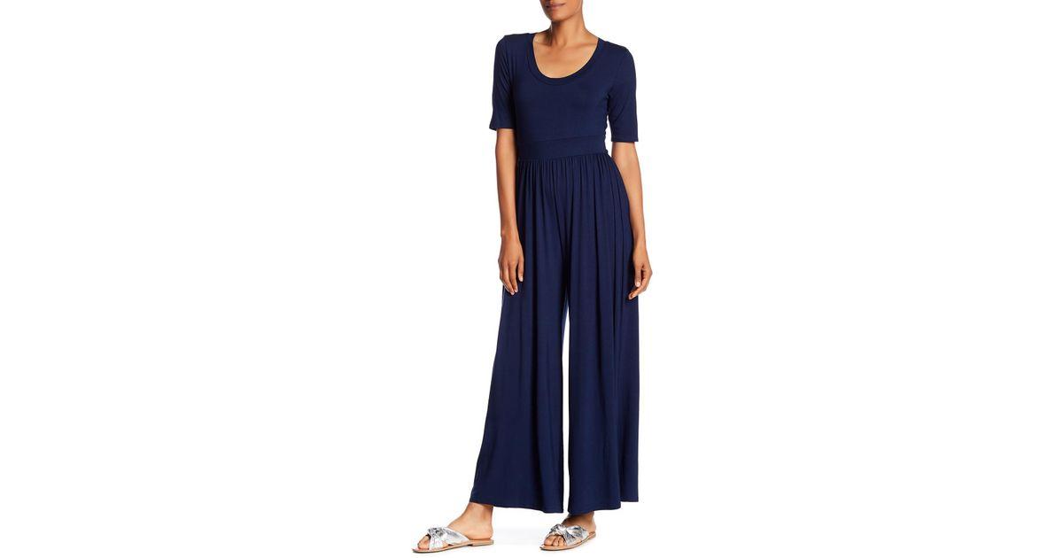 65a2e16ef8b8 Lyst - West Kei Knit Wide Leg Jumpsuit in Blue